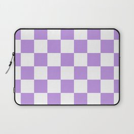 Checkered - White and Light Violet Laptop Sleeve
