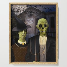 American Gothic Halloween Serving Tray
