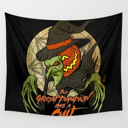 Cult of the Great Pumpkin: Witch Mask Wall Tapestry