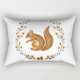 Pregnant Squirrel Rectangular Pillow