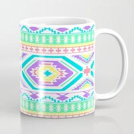 Aztec Geometric Print - Pastel bright colours Coffee Mug
