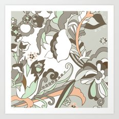 Minted Color Blocking Art Print
