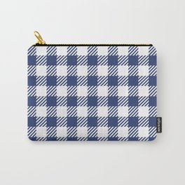 Blue Vichy Carry-All Pouch