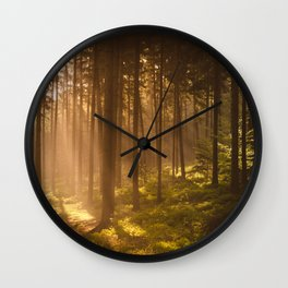 Morning forest Wall Clock