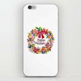 Christmas Wreath Painting Illustration Design iPhone Skin