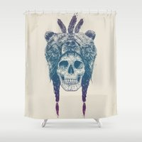 dead Shower Curtains featuring Dead shaman by Balazs Solti