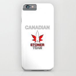 Canadian Stoner Team Weed iPhone Case
