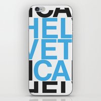 helvetica iPhone & iPod Skins featuring Helvetica  by Mackaays