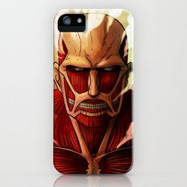 Colossal titan artwork iPhone Case