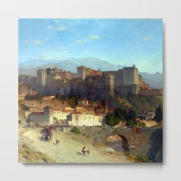 Samuel Colman The Hill of the Alhambra Metal Print