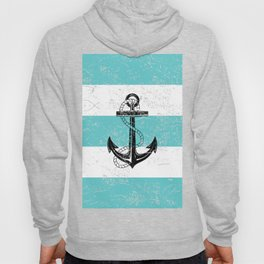Vintage anchor beach background Hoody