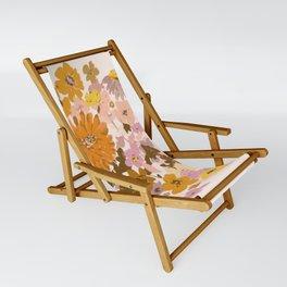 vintage wildflowers Sling Chair