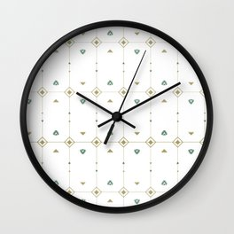 Jazzy Okami Pattern Wall Clock