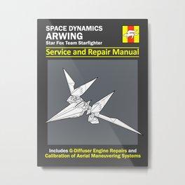 Arwing Service and Repair Manual Metal Print