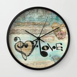 love note Wall Clock