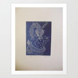 Draco constrictor (negative) Art Print