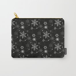 Snowflakes (White) Carry-All Pouch