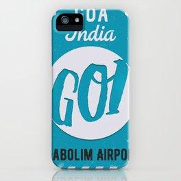 GOI GOA airport tag iPhone Case