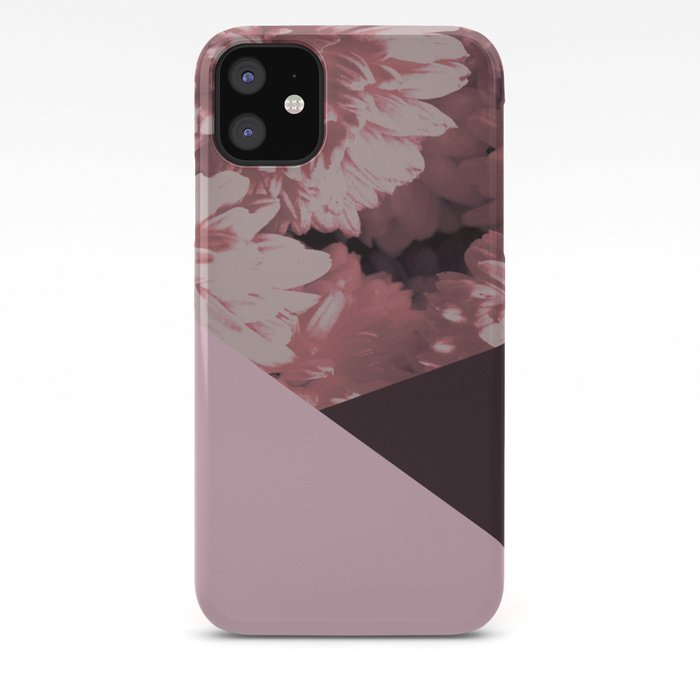 Pink mums geometrical collage iPhone Case
