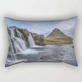 Waterfall Cascade Kirkjufell Mountain Iceland Rectangular Pillow