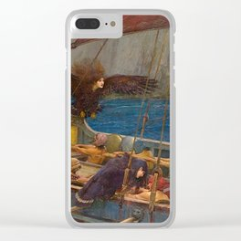 John William Waterhouse Ulysses and the Sirens 1891 Clear iPhone Case
