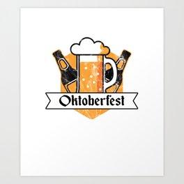 Cool Oktoberfest German Beer Festival Bier Drinkers Art Print