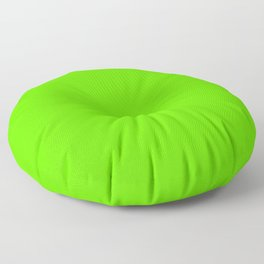 fluorescent neon green | solid colour Floor Pillow