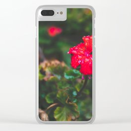 Faded Floral Clear iPhone Case