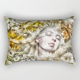 Light Sleeps in the Flowers Rectangular Pillow