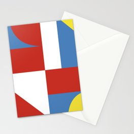 Mondrian style geometrical high resolution fine art for home decor. Stationery Cards