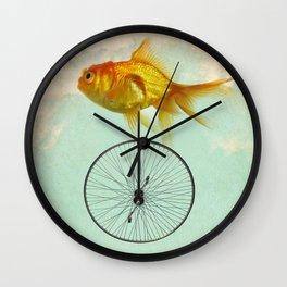 unicycle goldfish Wall Clock
