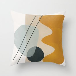 Abstract Shapes No.27 Throw Pillow