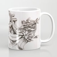 tapestry Mugs featuring Tapestry by Bake