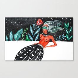 bold woman Canvas Print