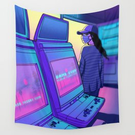 Arcade Hours Wall Tapestry