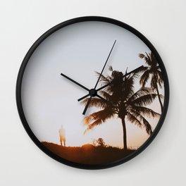 palm trees xvi / bali Wall Clock