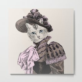 Pussycat Portrait  | No. 2 of 2 from The Owl and the Pussycat Set Metal Print