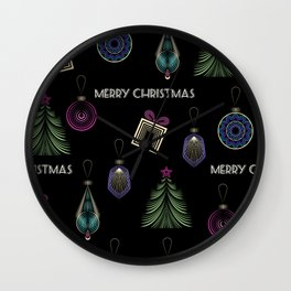 Getting ready for Christmas. Gifts! Wall Clock