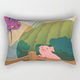 The spider and the pig Rectangular Pillow