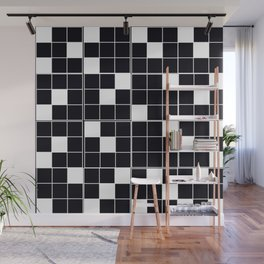 CHECKERBOARD BLACK AND WHITE Pattern Wall Mural