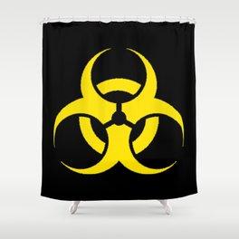 Hazard biologic warning signal design Shower Curtain
