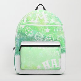 Happy Easter Green Design Holiday Gift Cute Women Men Kids Backpack