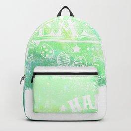 Happy Easter Green Design Holiday Gift Cute Women Men Kids Backpack