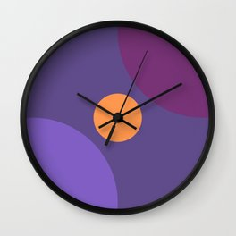 Ultra Violet 2018 Variation and Harmony Abstract Minimal Art Wall Clock