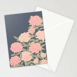 Pink peonies vintage pattern Stationery Cards