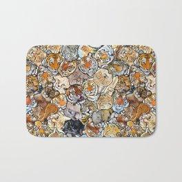 Big Cat Collage Bath Mat