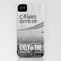 Never Give Up. Slim Case iPhone (4, 4s)