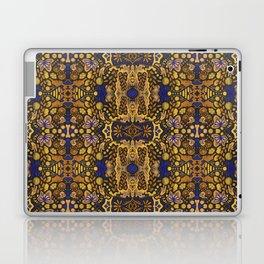 Indian Summer, Bohemian Arabesque Pattern, Golden Yellow Laptop & iPad Skin