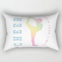 Push your limits pastel Rectangular Pillow