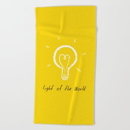 Light of the World - yellow Beach Towel